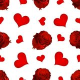 Romantic seamless pattern. royalty free illustration