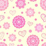 Romantic seamless pattern (tiling). Vector Royalty Free Stock Photography