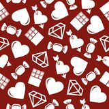 Romantic Seamless Pattern. Royalty Free Stock Photo