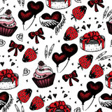 Romantic seamless pattern. Valentine day Stock Photography