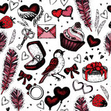 Romantic seamless pattern. Valentine day Royalty Free Stock Image