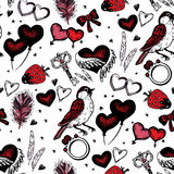 Romantic seamless pattern. Valentine day Stock Photos