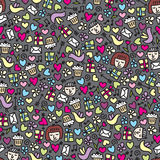 Romantic seamless pattern. Royalty Free Stock Images
