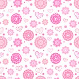 Romantic seamless pattern. Vector illustration Royalty Free Stock Photography
