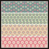 Romantic seamless patterns 2015-1 Royalty Free Stock Images