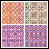 Romantic seamless patterns Stock Photo