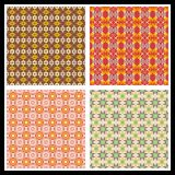 Romantic seamless patterns Stock Images