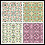 Romantic seamless patterns Royalty Free Stock Photo