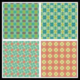 Romantic seamless patterns Stock Photos