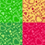Romantic seamless patterns. Valentine's day Royalty Free Stock Photos