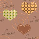 Romantic seamless texture with hearts Royalty Free Stock Image