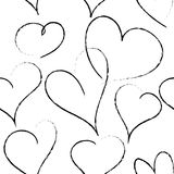 Black hearts on the white background Royalty Free Stock Photography