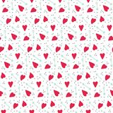 Romantic seamless vector pattern with hearts and arrows. Texture for fabric, scrapbooking paper, wrapping paper and other Stock Photography