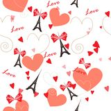 Romantic seamless vector pattern Royalty Free Stock Photos