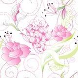 Romantic seamless wallpaper Royalty Free Stock Image