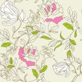 Romantic seamless wallpaper Stock Photo