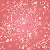 Romantic seamless wallpaper with hearts Royalty Free Stock Image