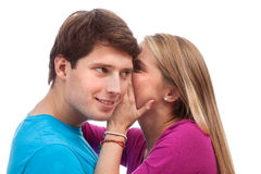 Romantic secret Stock Images