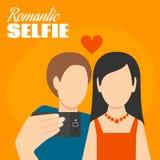Romantic Selfie Poster Stock Image