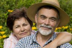 Romantic senior couple 2 Stock Photos