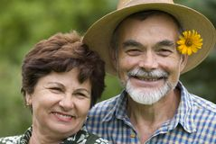 Romantic senior couple 2 Royalty Free Stock Photography