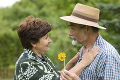 Romantic senior couple 2 Royalty Free Stock Photo