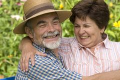 Romantic senior couple 2 Stock Photo