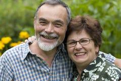 Romantic senior couple 2 Stock Images