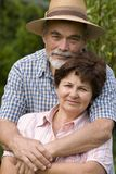 Romantic senior couple royalty free stock images