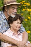 Romantic senior couple Stock Image
