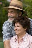 Romantic senior couple Stock Photos