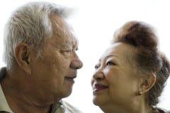 Romantic senior couple stock photo