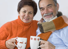 Romantic senior couple Royalty Free Stock Photos