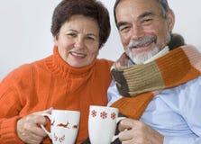 Romantic senior couple Royalty Free Stock Photos