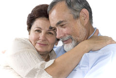 Romantic senior couple Stock Photo