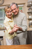 Romantic senior couple dancing together Stock Images