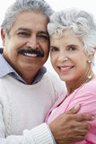 Romantic Senior Couple Hugging On Beach Royalty Free Stock Image