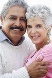 Romantic Senior Couple Hugging On Beach Royalty Free Stock Image