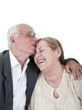 Romantic senior couple laughing Stock Photos