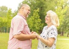 Romantic senior couple Stock Image