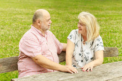 Romantic senior couple Stock Photography