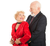 Romantic Senior Dancers Stock Photos