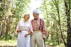 Romantic seniors Royalty Free Stock Images