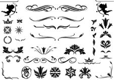 romantic set of elegant design elements royalty free illustration