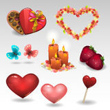 Romantic set Royalty Free Stock Image