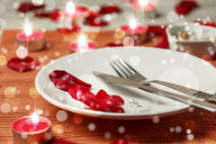 Romantic set table Stock Images