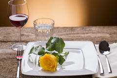 Romantic set table. For restaurant Royalty Free Stock Photos