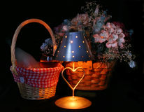 Romantic Setting. Candlelight Setting Royalty Free Stock Image