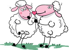 Romantic sheep. Vector illustration of   romantic sheep Stock Photo