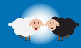 Romantic sheep Royalty Free Stock Photography